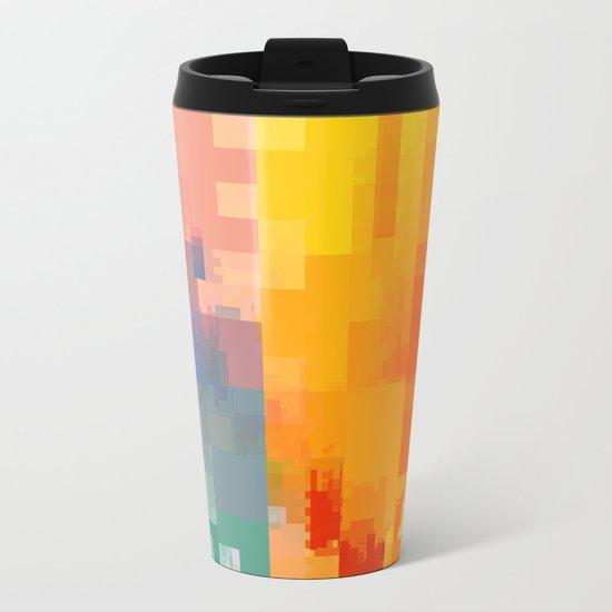 DIGITAL GLITCH 3 Metal Travel Mug