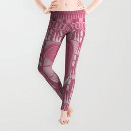 Rose Pink Geometric Abstract Leggings