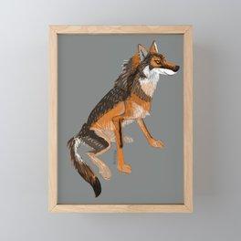 Totem Iberian wolf Framed Mini Art Print
