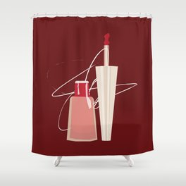 When Red Meets RED Shower Curtain