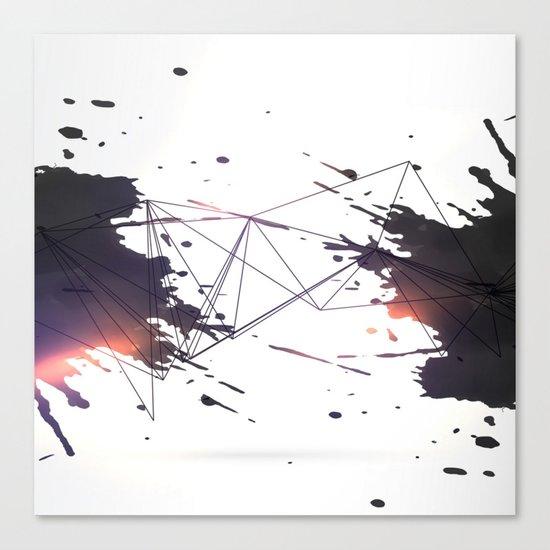 Geometric splatter Canvas Print