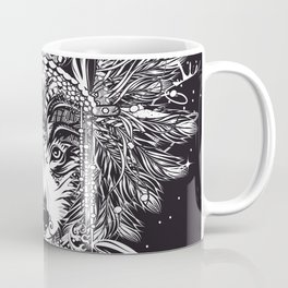 Chief wolf with crossed tomahawks Coffee Mug