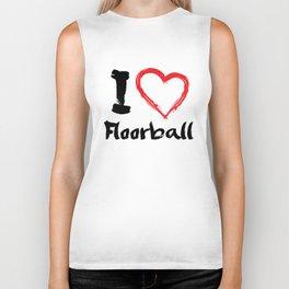 I Love Floorball Biker Tank