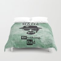 breaking bad Duvet Covers featuring BREAKING BAD by Zorio