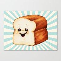 bread Canvas Prints featuring Bread by Kelly Gilleran