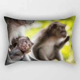 Monkey Wall Art, Photography Print, Printable Wall Art Rectangular Pillow