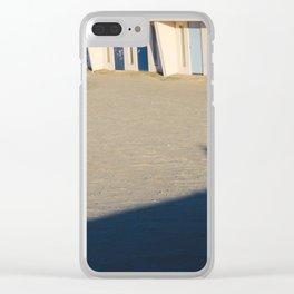 beach cabins Touquet Clear iPhone Case