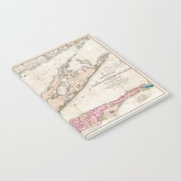 Long Island New York 1842 Mather Map Notebook