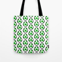 yoshi Tote Bags featuring Yoshi Eggs by Rebekhaart