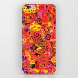 Boho Patchwork in Warm Tones iPhone Skin
