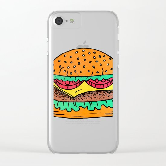 Burger Clear iPhone Case