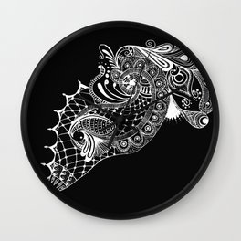 Black Tie Peacock Wall Clock