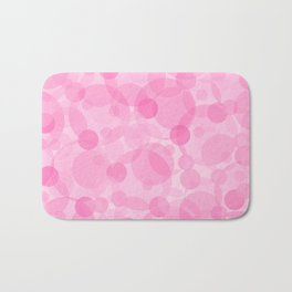 Pink Bubbles 1 Bath Mat