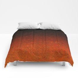 Orange & Black Glitter Gradient Comforters