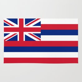 Flag of Hawaii, High Quality image Rug