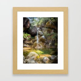 Lady Bath Falls - Mt Buffalo Framed Art Print
