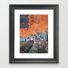 A Violent Sky Framed Art Print
