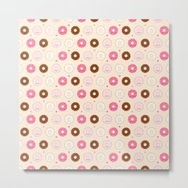 Cute Little Donuts on Cream Metal Print