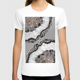 Yin Yang Agate Glitter Glam #9 #gem #decor #art #society6 T-shirt