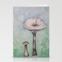 mushrooms Stationery Cards featuring mushrooms by Diane Nicholson
