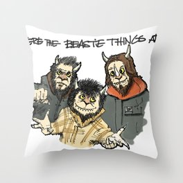 Where The Beastie Things Are Throw Pillow