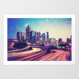 Atlanta Downtown Art Print