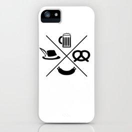 Oktoberfest beer pretzel sausage Dirndl Gifts iPhone Case