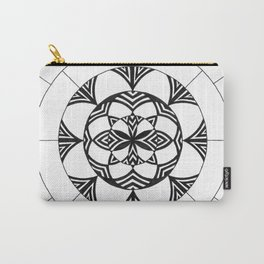 Patterned Flower Carry-All Pouch