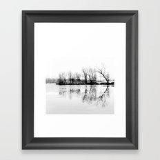 cold silence Framed Art Print