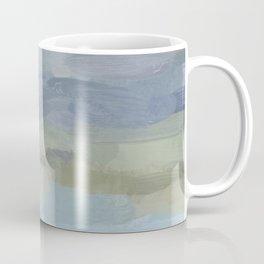 Sky Gray Blue Sage Green Abstract Wall Art, Painting Art, Lake Nature Painting Print, Modern Coffee Mug