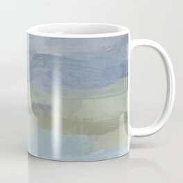 Sky Gray Blue Sage Green Abstract Wall Art, Painting Art, Lake Nature Painting Print, Modern Coffee Mug