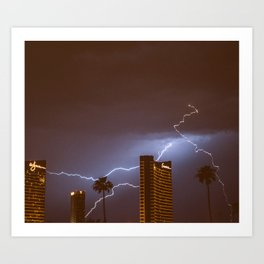 Lightning in Las Vegas Art Print