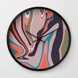 Marbleized II Wall Clock