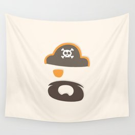 My little orange Pirate Wall Tapestry