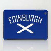 edinburgh iPad Cases featuring Edinburgh by Earl of Grey