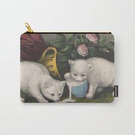 cute kitten 3- Anonymous - Little white kitties -pet,whikers,cat,kitty,kitten Carry-All Pouch