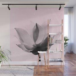 Lotus Flower | Pink Background Wall Mural
