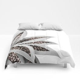 Agave Finesse Glitter Glam #1 #tropical #decor #art #society6 Comforters