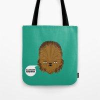 starwars Tote Bags featuring Chewbacca - StarWars by Thiago Grossmann