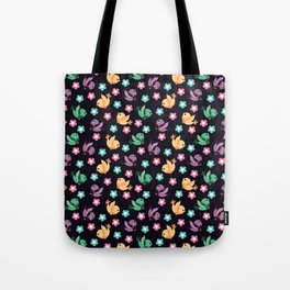 Freely Birds Flying - Fly Away Version 3 - Eggplant Purple Color Tote Bag
