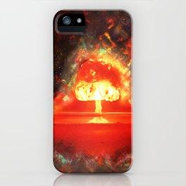 Famous humourous quotes series: Atomic mushroom explosion  iPhone Case