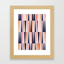 Beaching Pattern Framed Art Print