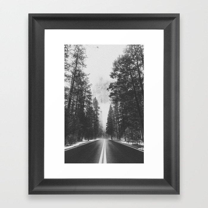ROAD TRIP IV / Yosemite, California Framed Art Print