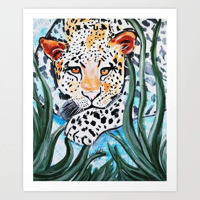 LION IN THE JUNGLE Art Print