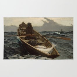 The Fog Warning / Halibut Fishing by Winslow Homer Rug