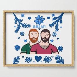 Beard Boy: Couple of Men - Karl & Daan Serving Tray