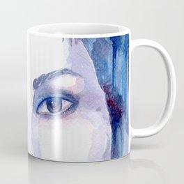 Watercolor - Woman in blue Coffee Mug
