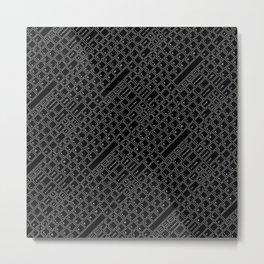 Keyboarded BLACK Metal Print