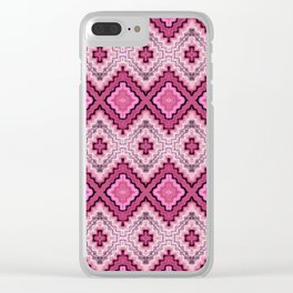 Woven Magenta Clear iPhone Case