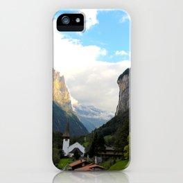 Village in the Mountains - Lauterbrunnen Switzerland iPhone Case